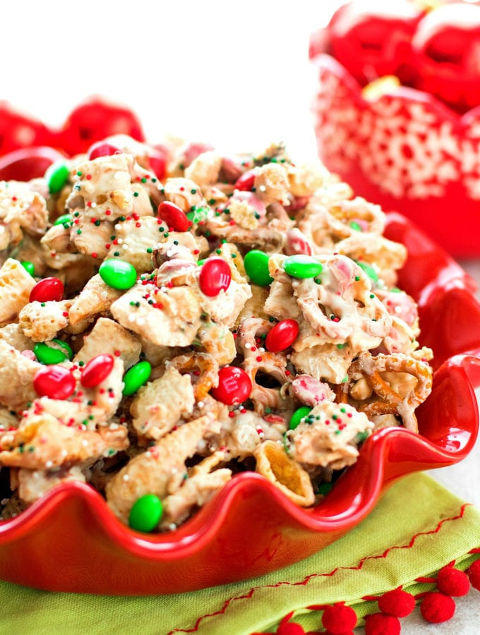 White Chocolate Holiday Snack Mix