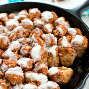 Glazed Skillet Monkey Bread