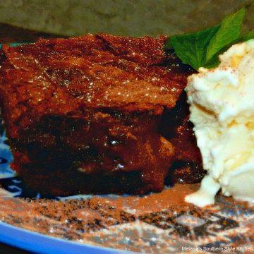 Mocha Molten Lava Gooey Butter Cake dessert