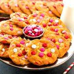 White Chocolate Chip M&M Valentine's Day Cookies