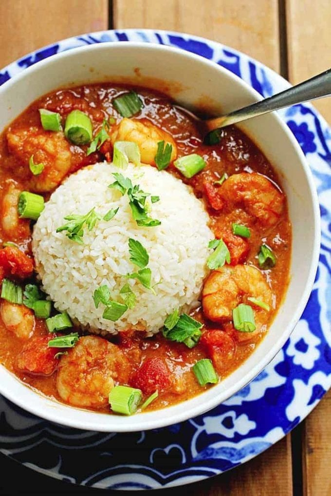 shrimp etouffee in a bowl