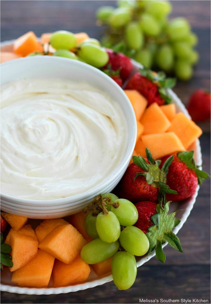 Easy Fruit Dip with fresh fruit