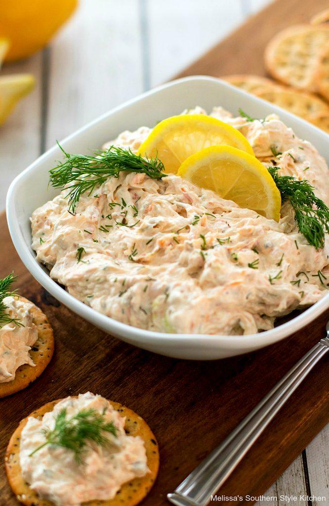 plated salmon dip
