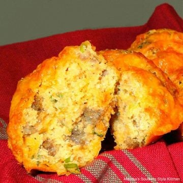 Sausage and Cheddar Cheese Muffins Recipe
