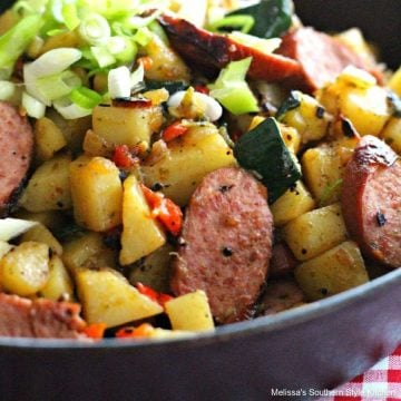 Skillet Potato Sausage Hash with Zucchini