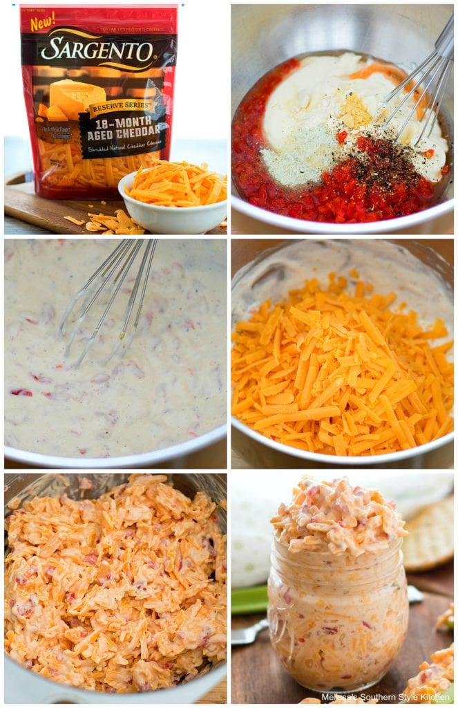 step-by-step images how to prepare pimento cheese