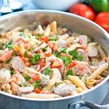 Cajun Chicken Pasta With Andouille Recipe