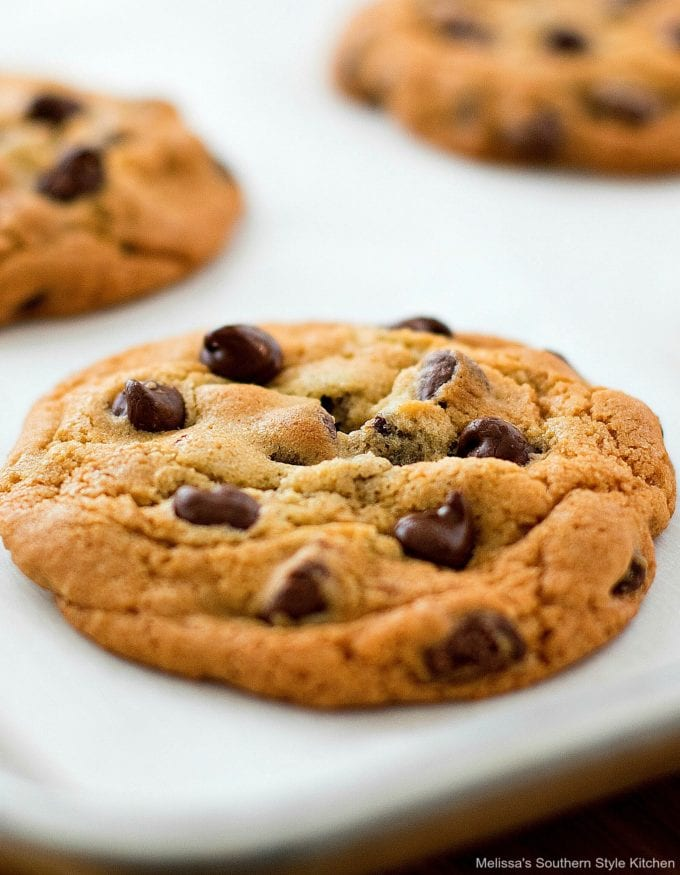 single baked Chocolate Chip Cookie