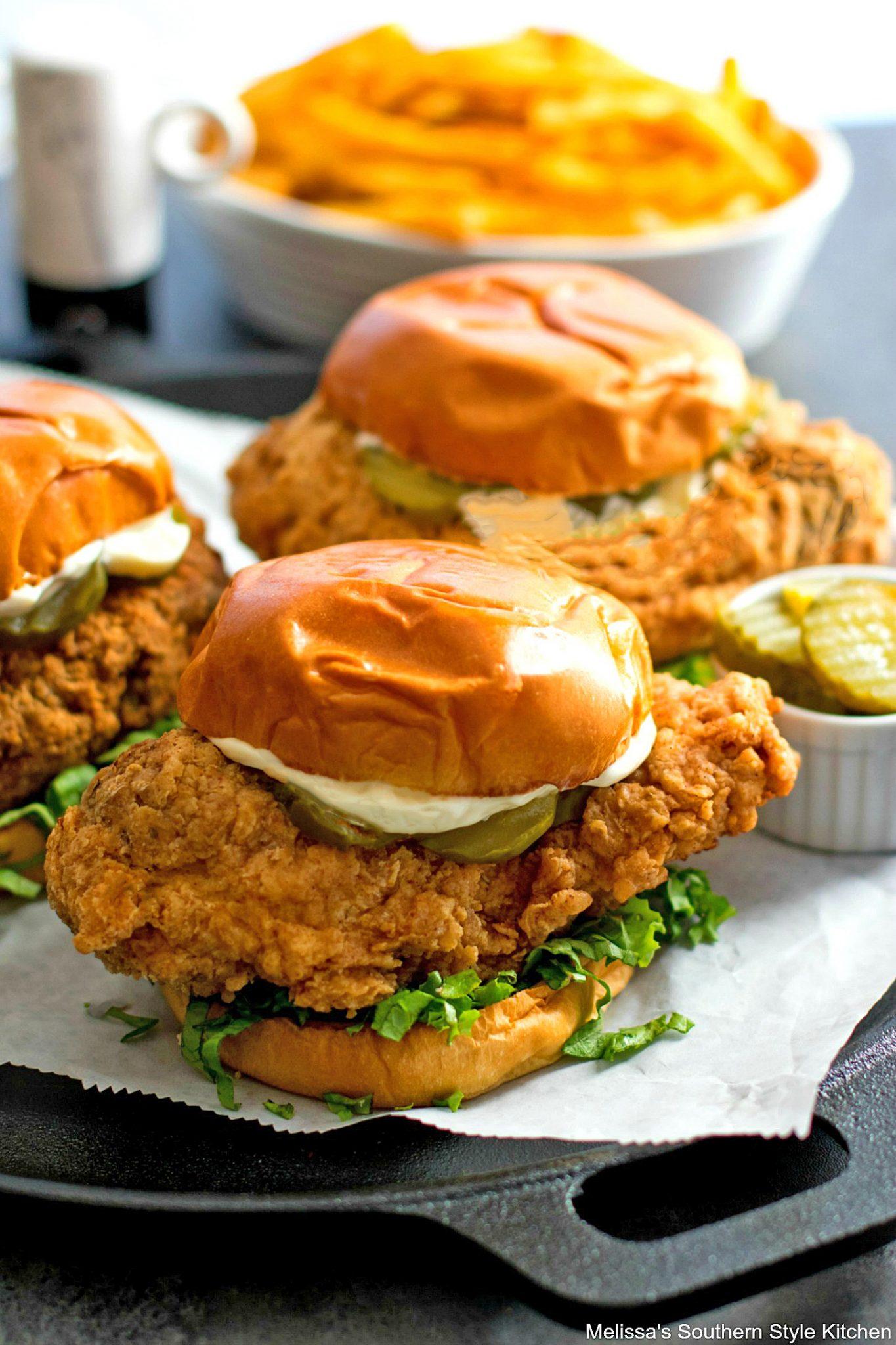 Crispy Chicken Sandwich - melissassouthernstylekitchen.com
