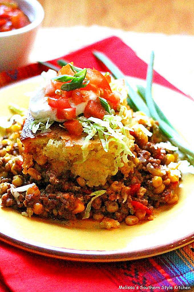 Southwestern Casserole with Sweet Corn Crust recipe