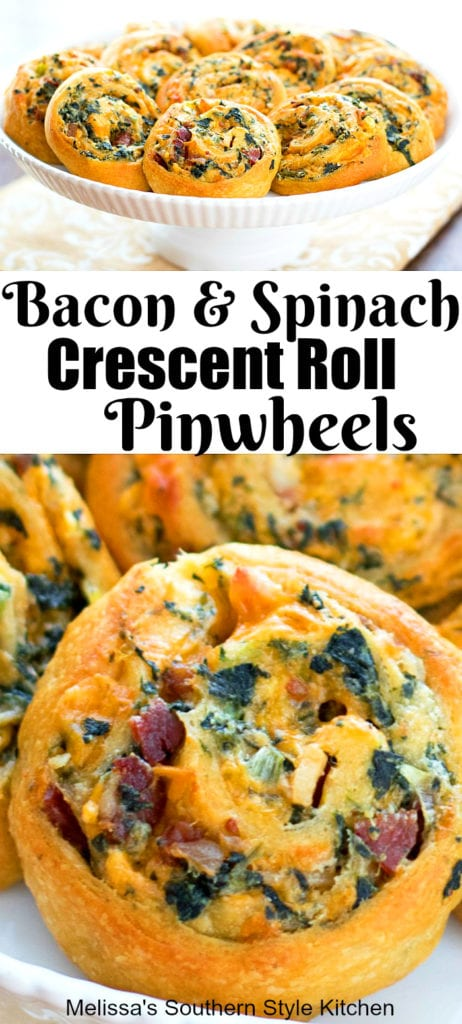 Bacon Spinach Crescent Pinwheels