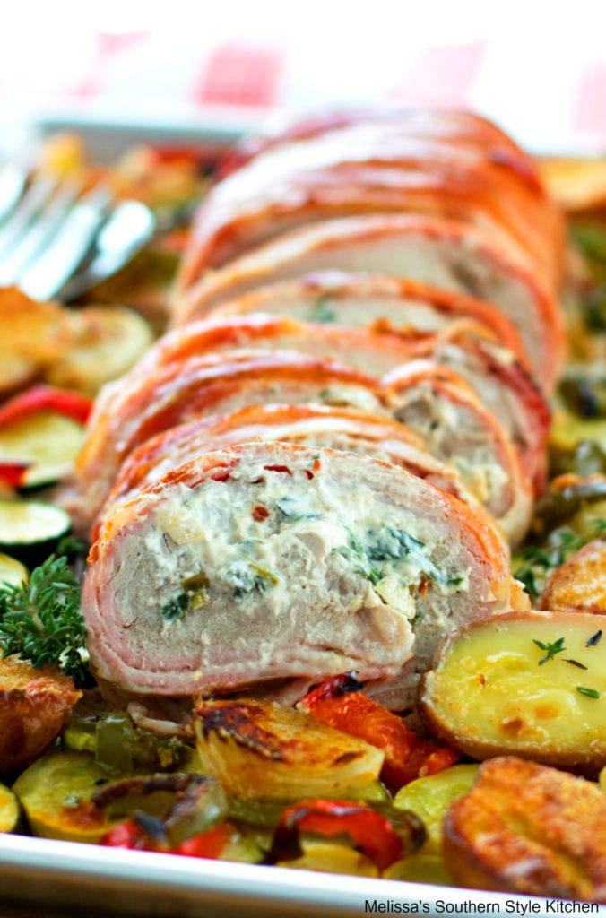 roasted pork loin with bacon