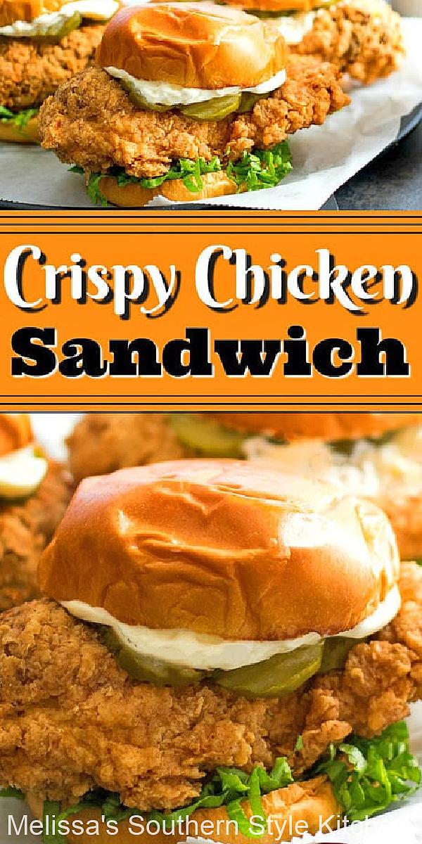 This Crispy Chicken Sandwich is better-than-takeout #chickenrecipes #easychickenrecipes #crispychicken #dinner #dinnerrecipes #southernfriedchicken #southernrecipes