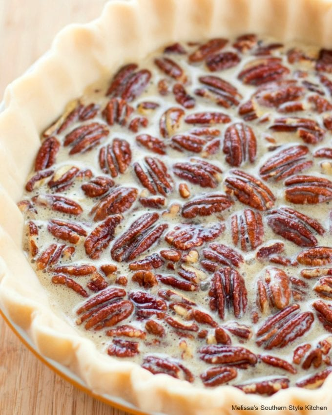 unbaked Southern Pecan Pie