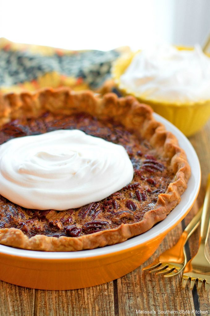 Southern Pecan Pie with whipped cream