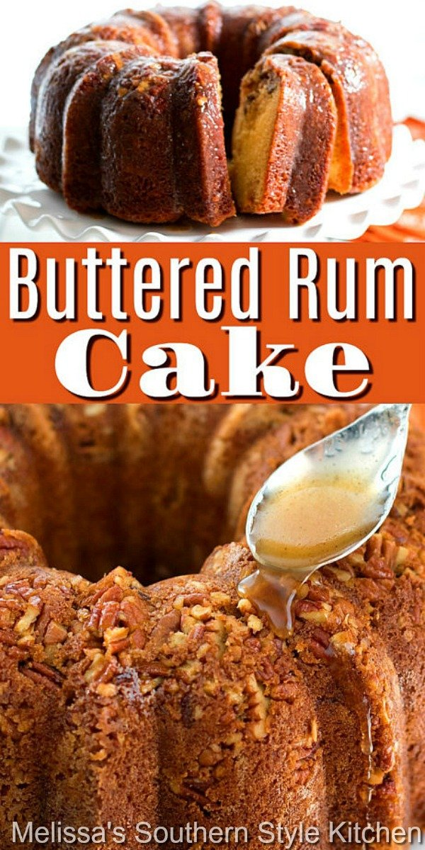 This insanely delicious homemade Buttered Rum Cake is holiday ready #butteredrum #butteredrumcake #cakes #cakerecipes #pecns #pecancake #desserts #dessertfoodrecipes #holidaybaking #holidays #rum #southernrecipes #southernfood