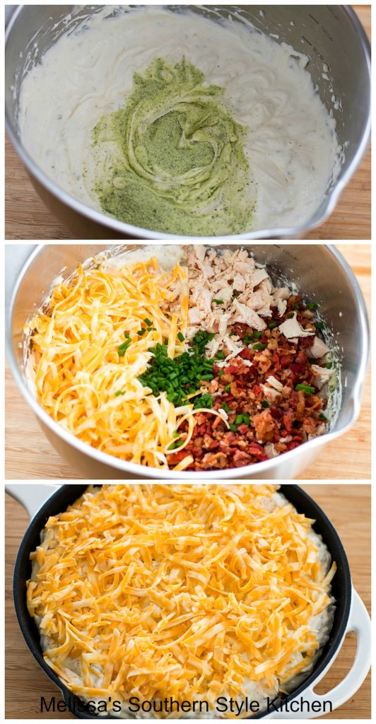 ingredients to make Chicken Bacon Ranch Dip