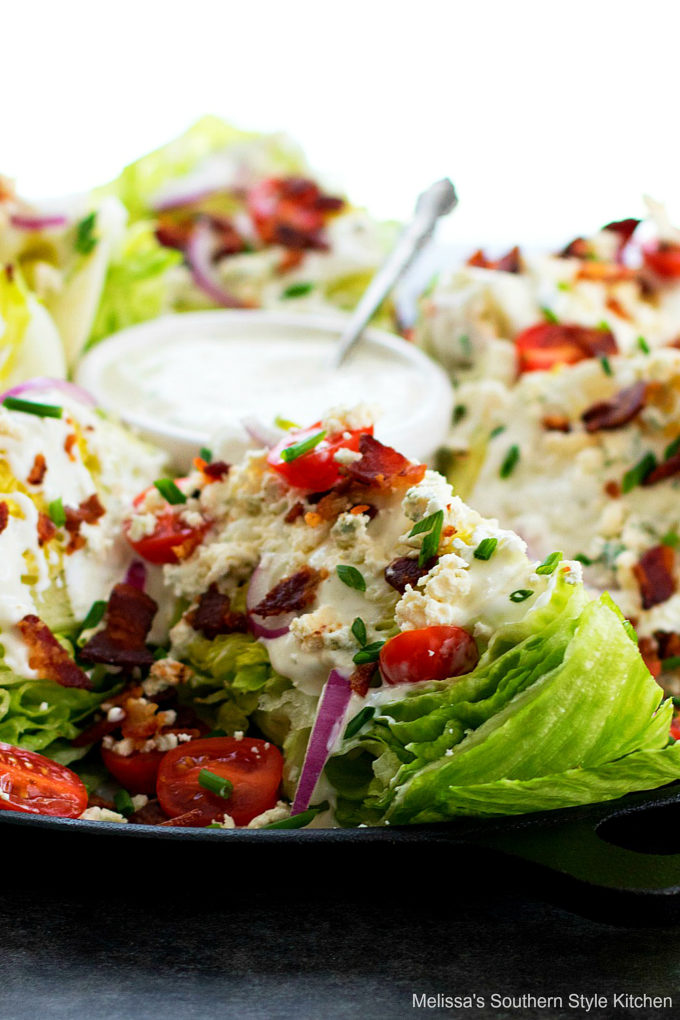 Classic Wedge Salad with bleu cheese dressing