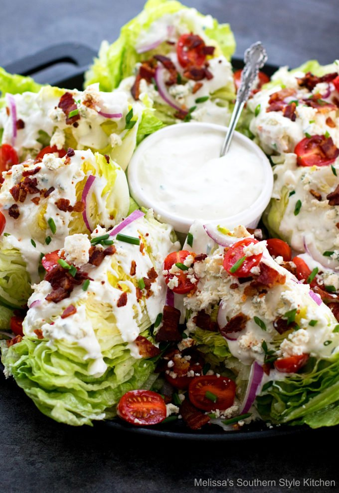 Classic Wedge Salad plated