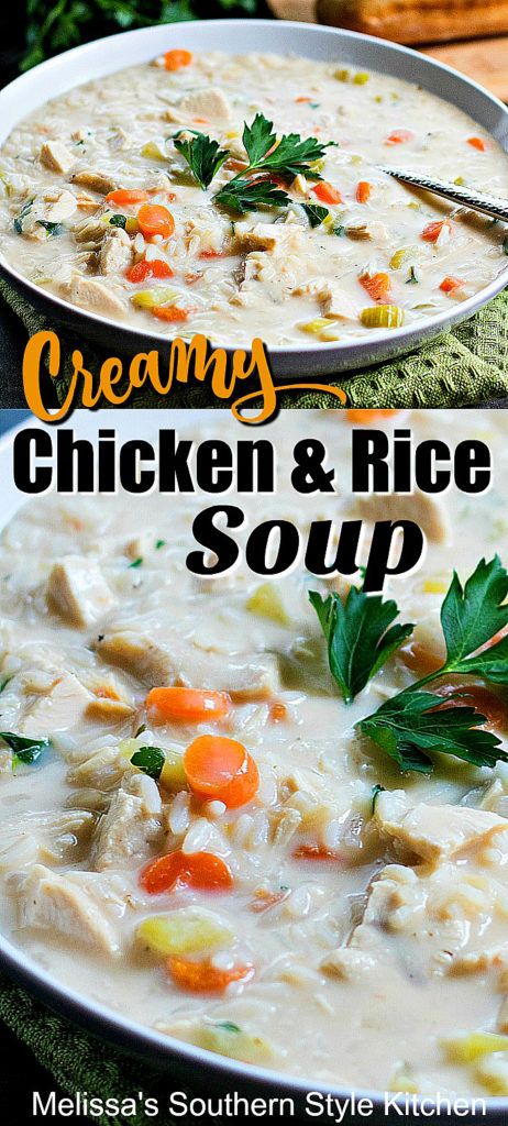 Easy Creamy Chicken Rice Soup