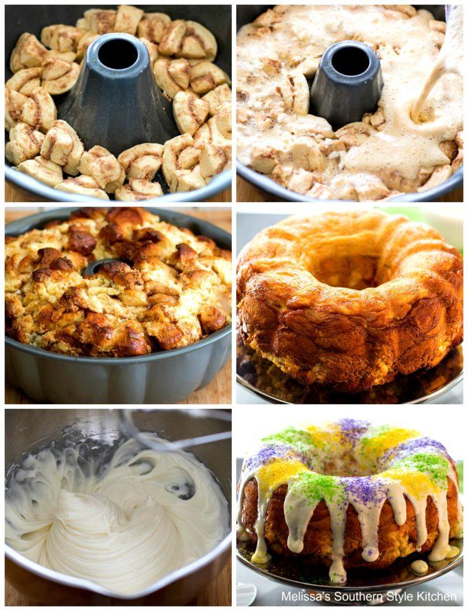 ingredients for monkey bread in a bundt pan