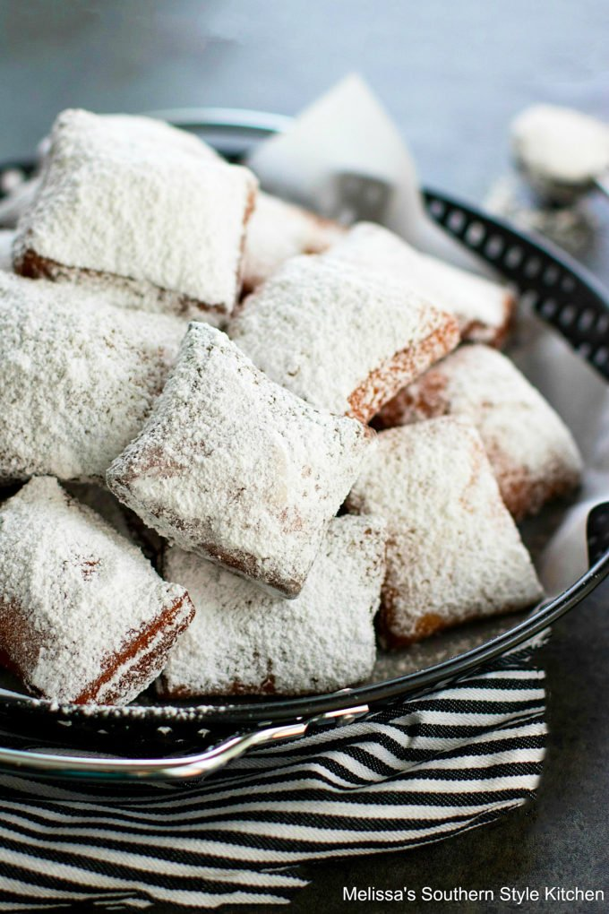 plated New Orleans Beignets