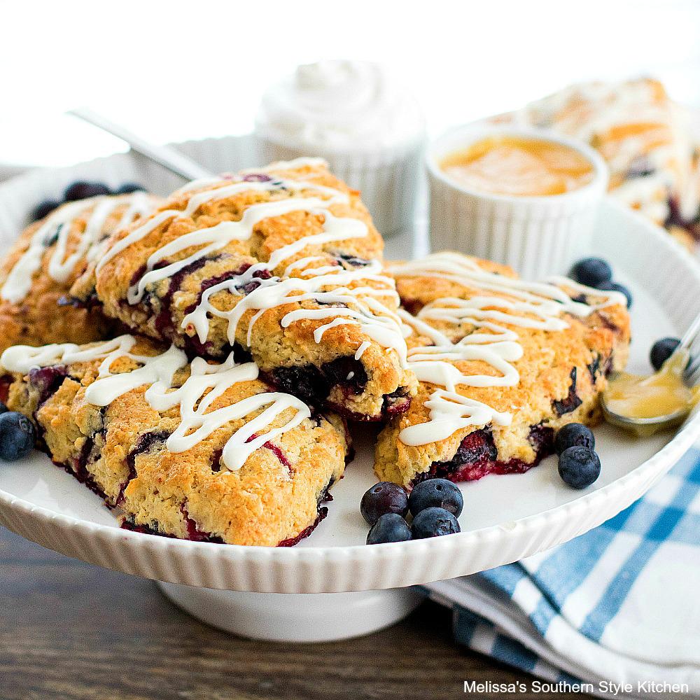 Recipe for Blueberry Sour Cream Scones