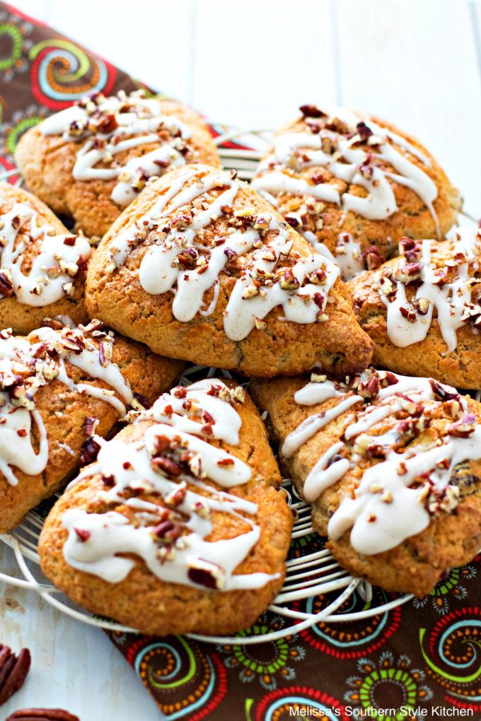 glazed Brown Sugar Pecan Scones