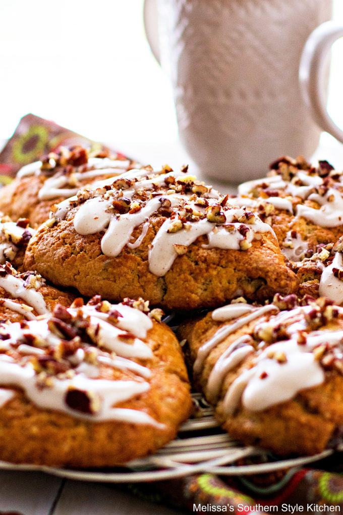 plated Brown Sugar Pecan Scones