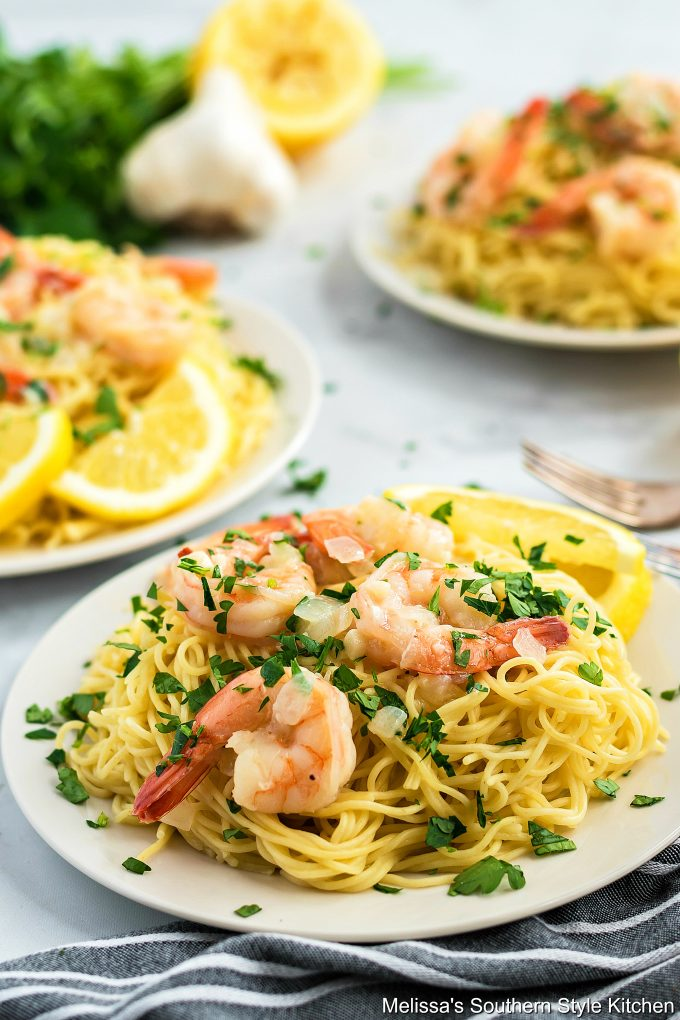 Plated Shrimp Scampi