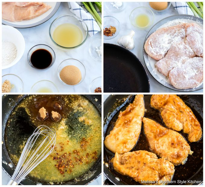 Step-by-step images and ingredients for Garlic Brown Sugar Chicken