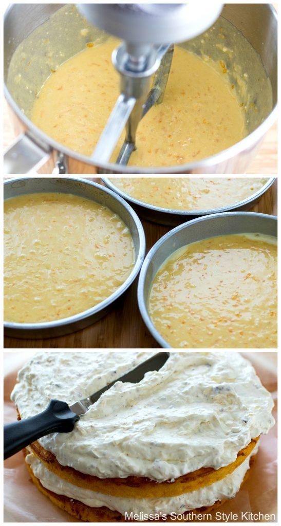 step-by-step preparation images and ingredients for mandarin orange Pig Pickin' Cake
