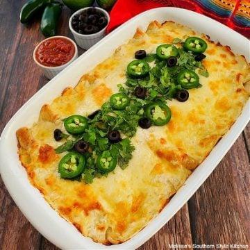 White Chicken Enchiladas recipe