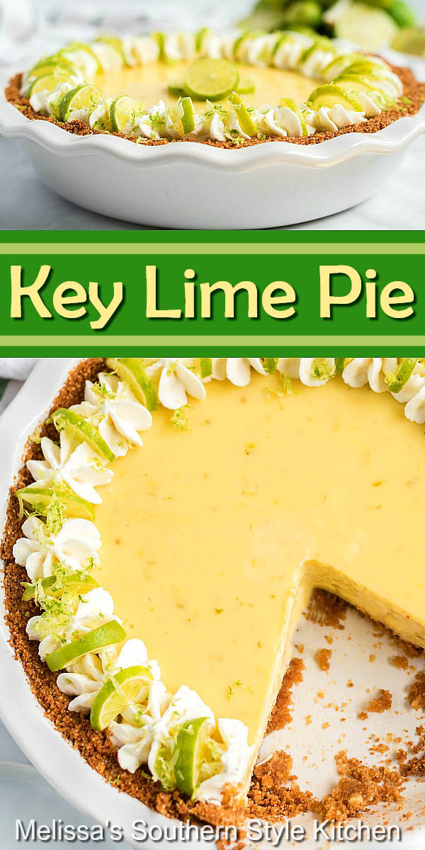 There's a burst of lime in every bite of this Key Lime Pie #keylimepie #keylimes #pierecipes #summerdesserts #holidaydesserts #dessertfoodrecipes #limepie #keylime #desserts #southernfood #southernrecipes