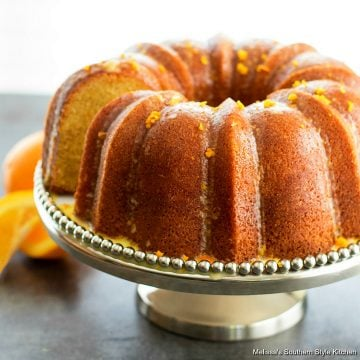 Orange Pound Cake dessert