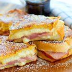 powder sugar dusted Monte Cristo Sandwich