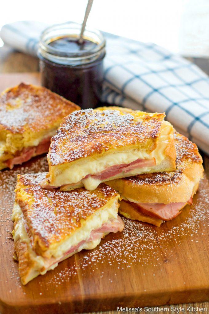 plated Monte Cristo Sandwich