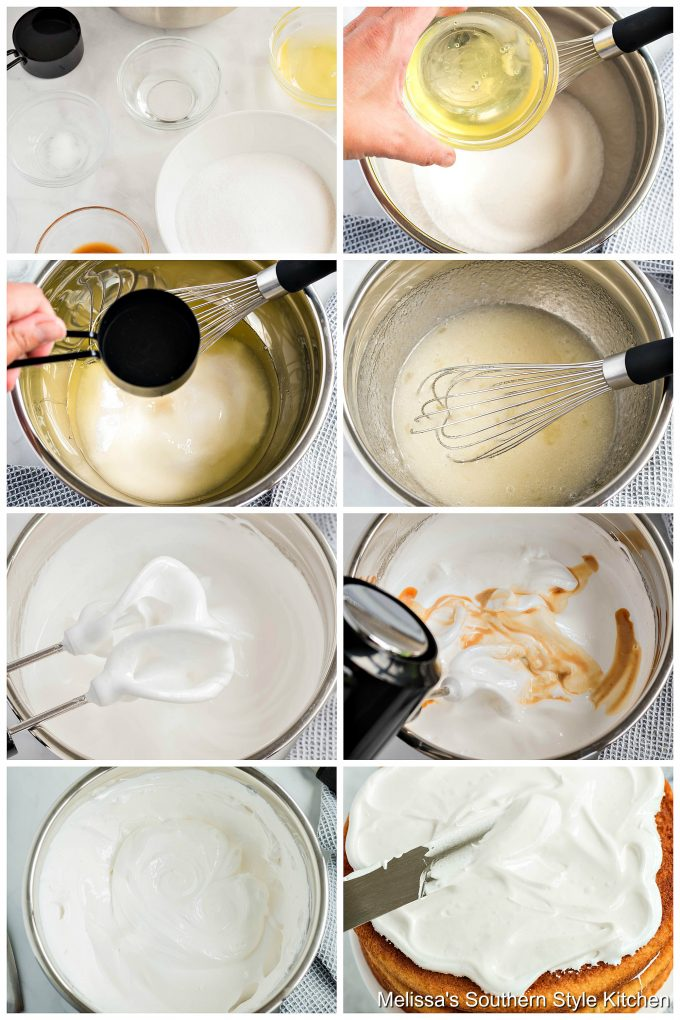 Step-by-step preparation images and ingredients for Seven Minute Frosting