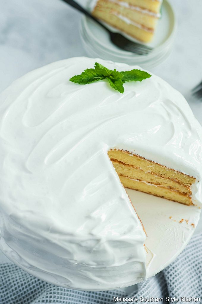 Layer cake with Seven Minute Frosting