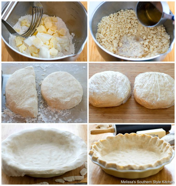 Step-by-step preparation images and ingredients for 7 Up Pie Crust