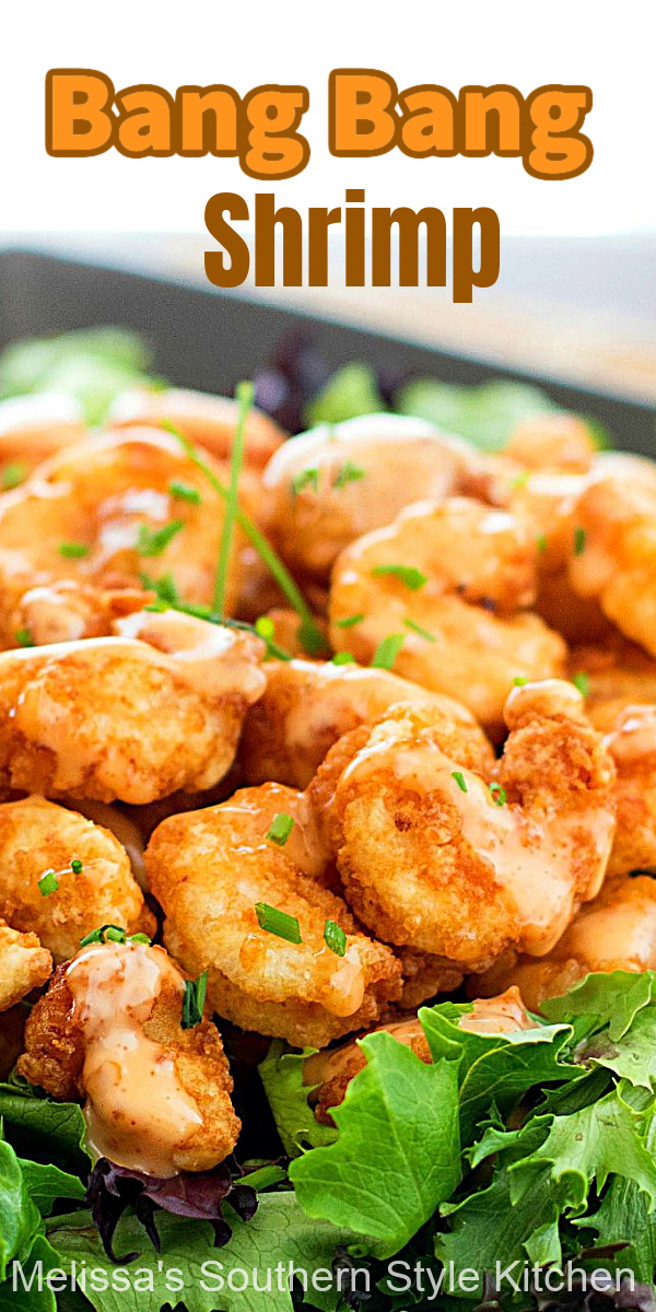 Save money and make this better-than-copycat Bang Bang Shrimp at home #bangbangshrimp #shrimprecipes #dinner #dinnerideas #seafoodrecipes #copycatrecipes #seafood #shrimp #friedshrimp #appetizers #spicy #food #recipes