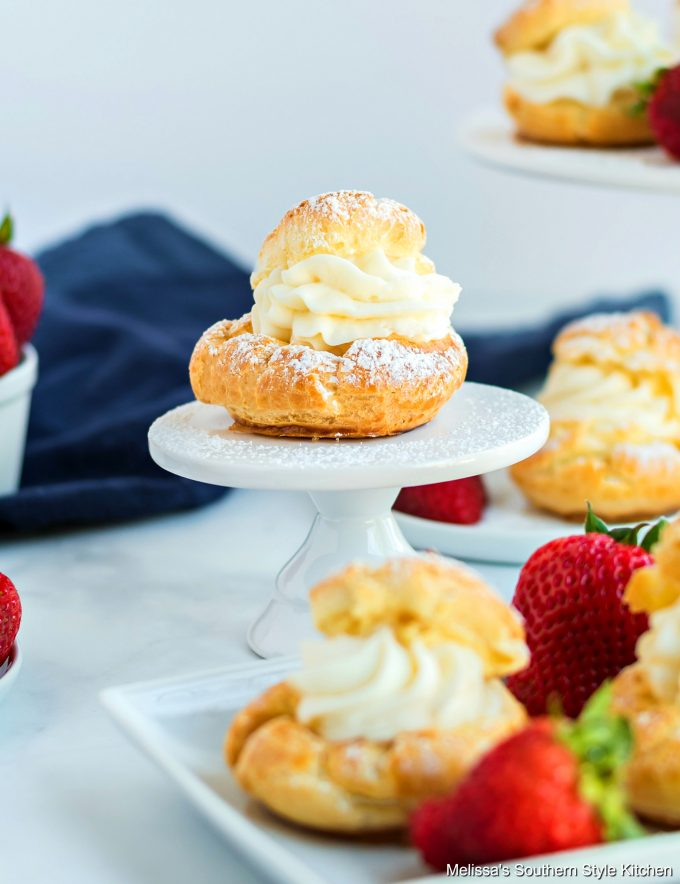 Cream Puffs displayed