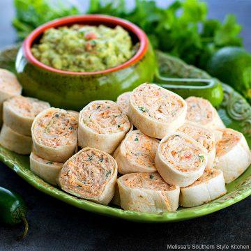 Easy Chicken Taco Pinwheels