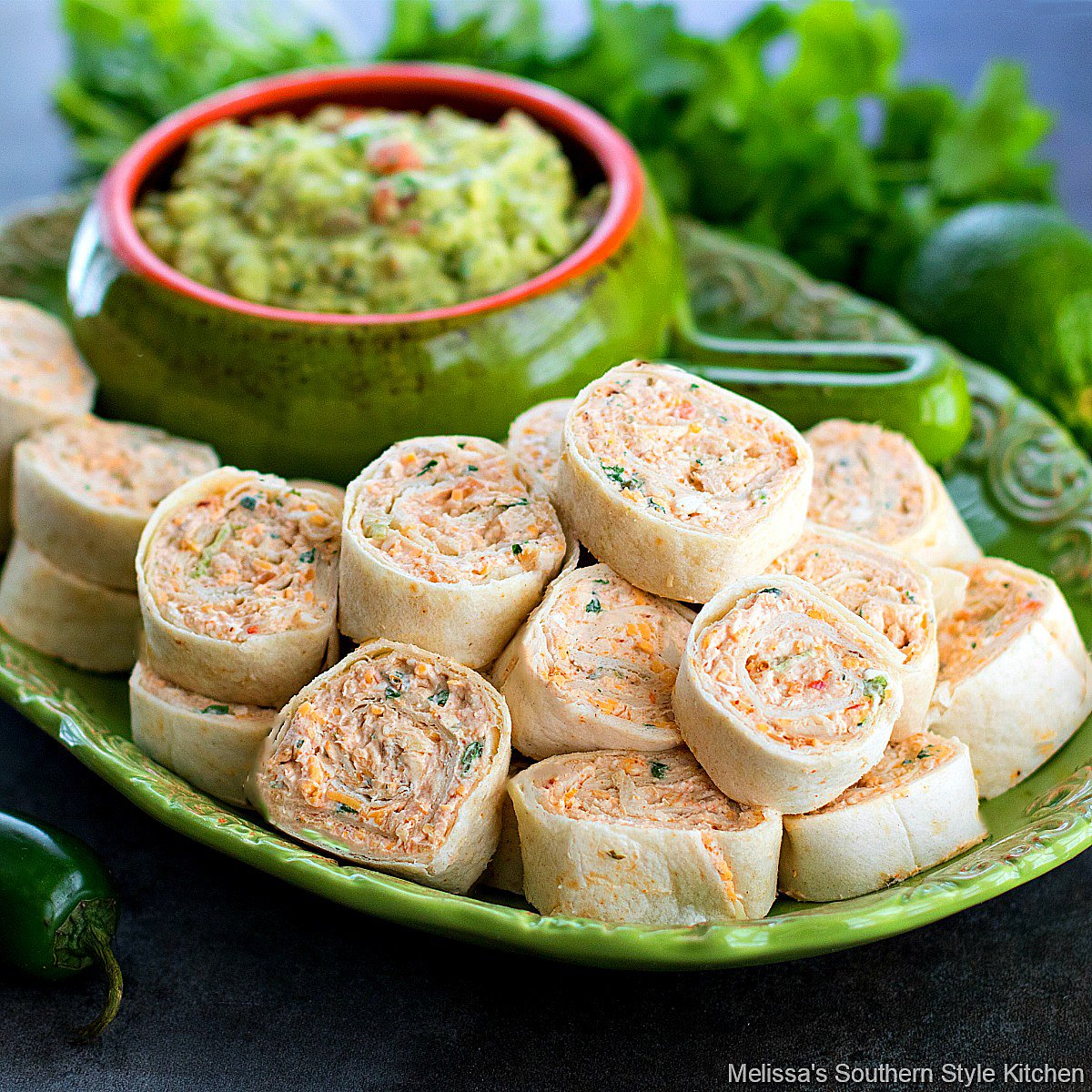 Easy Chicken Taco Pinwheels