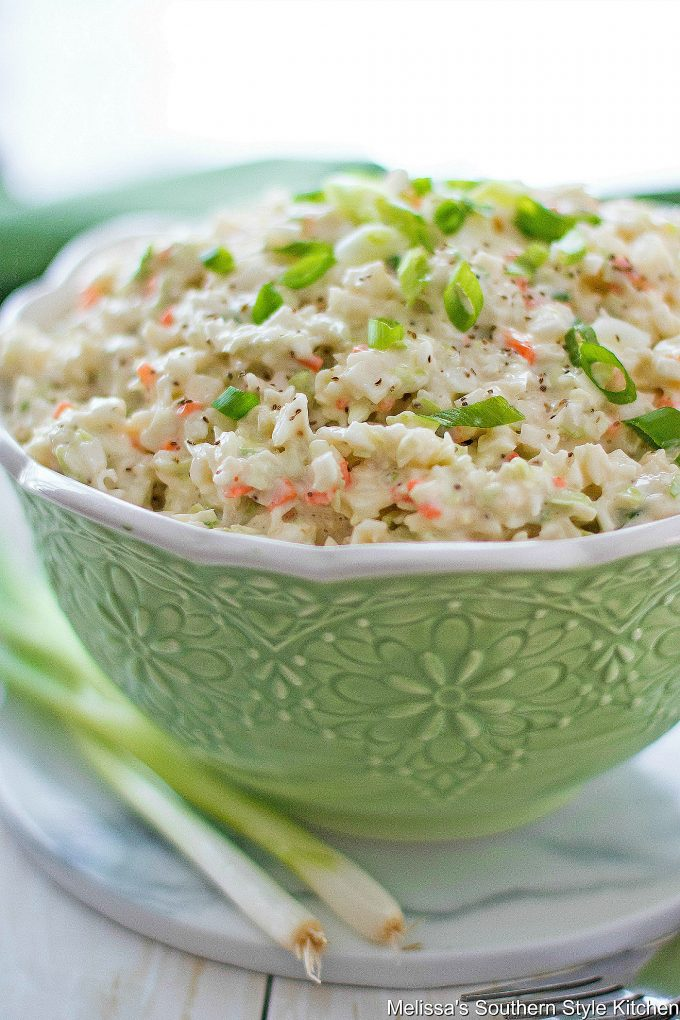 Southern Style Cole Slaw in a bowl