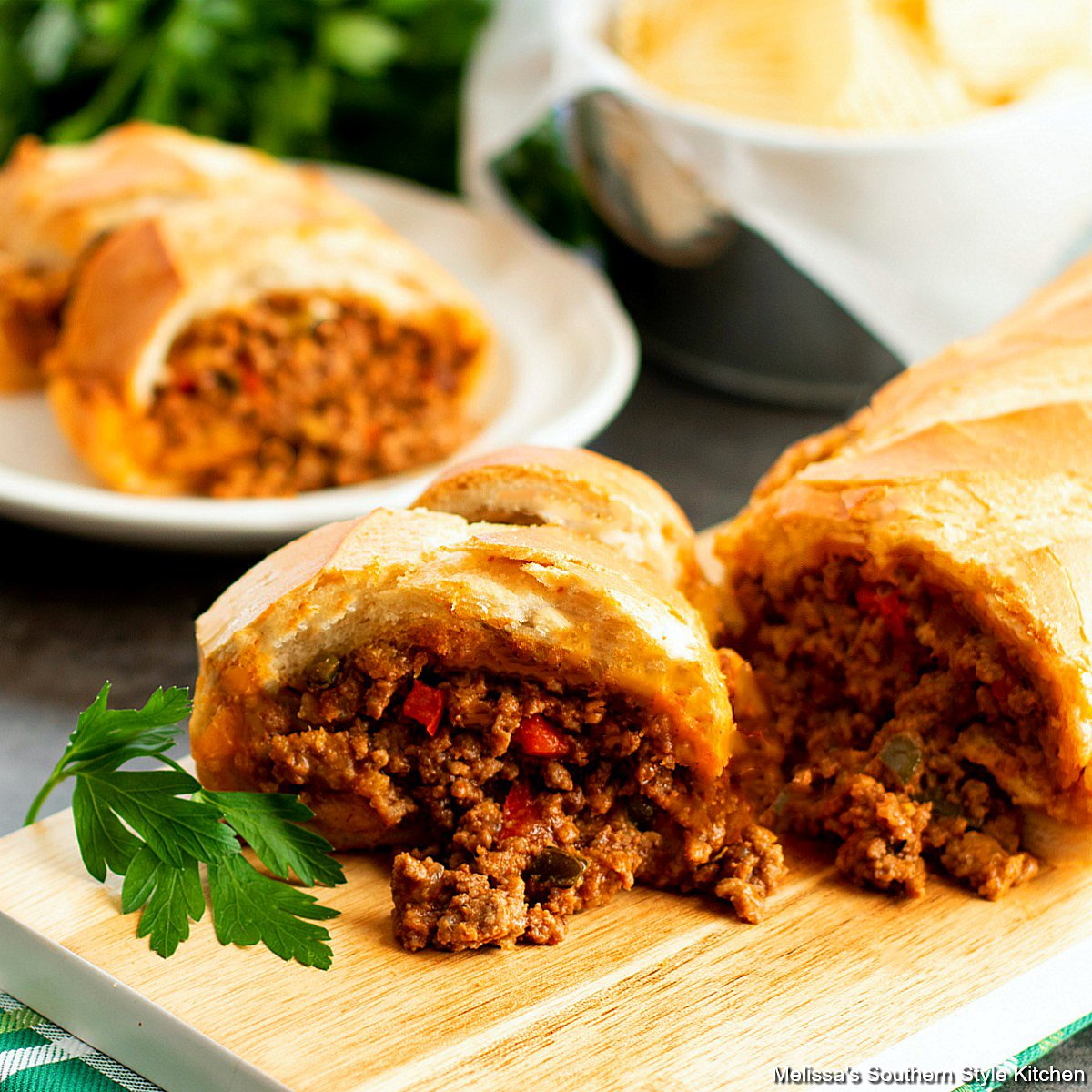 Sloppy Joes Stuffed Bread