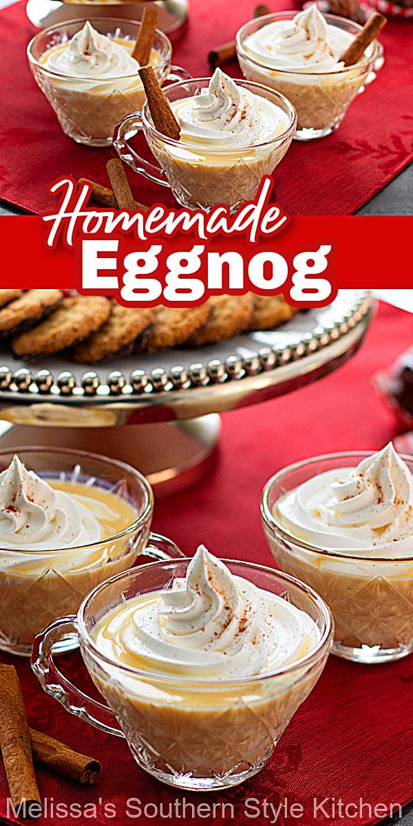 Treat the family to Homemade Eggnog this holiday season #eggnog #homemadeeggnog #besteggnogrecipes #drinks #Christmasrecipes #holidayrecipes #southernfood #southernrecipes #punch #Christmaspunch