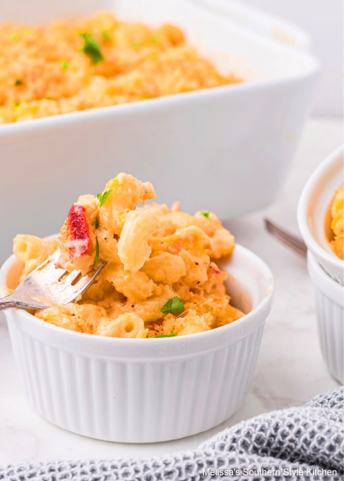 plated Lobster Mac and Cheese