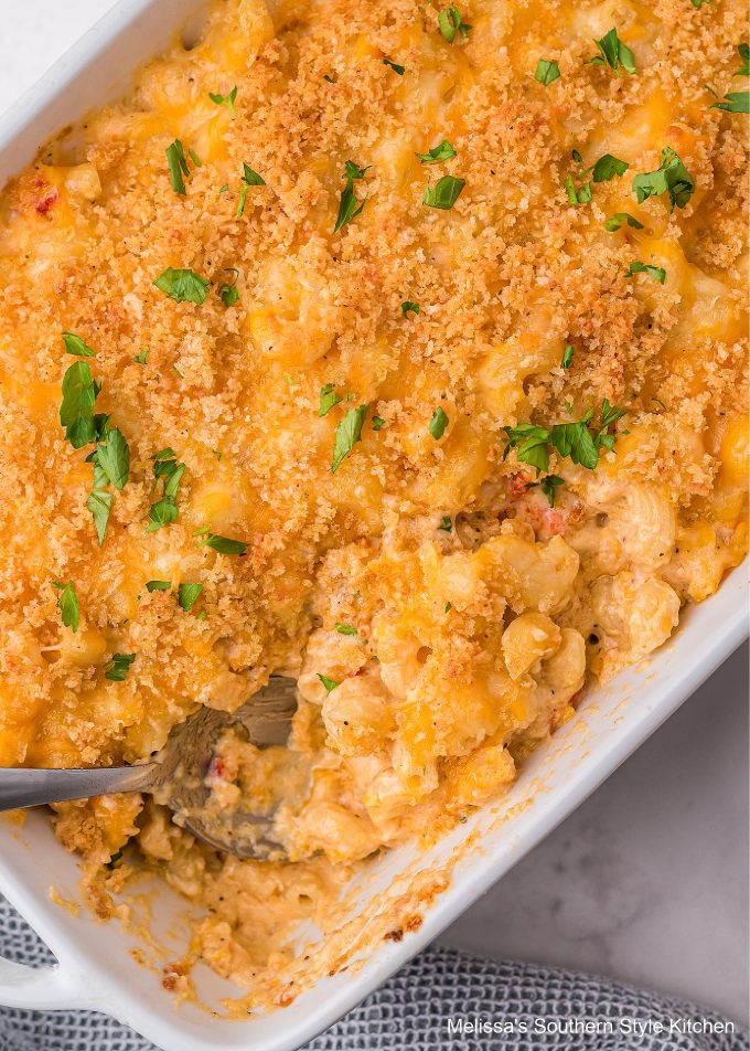 Lobster Macaroni and Cheese baked