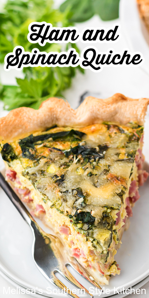 Start your day with this flavorful Ham and Spinach Quiche #spinachquiche #hamandspinachquiche #bestquicherecipes #leftoverhamrecipes #ham #spinachrecipes #quiche #brunch #breakfast #lunch #holidaybrunch #southernfood #southernrecipes